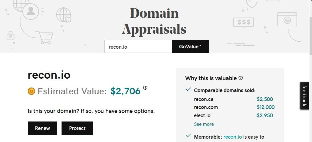 GoDaddy Appraisal Tool